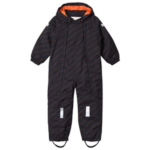 Image of Tinycottons Diagonal Stripes Snow Suit Navy 6-12 mdr (1172560)