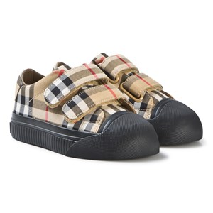 Image of Burberry Vintage Check Sneakers Antique Yellow 34 (UK 3) (3059478557)