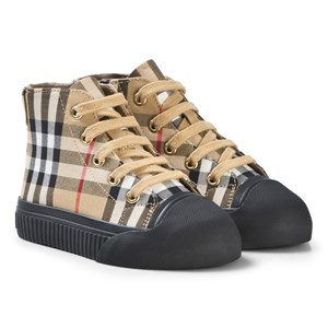 Image of Burberry Vintage Check High-Top Sneakers Antique Yellow 27 (UK 9) (1099441)