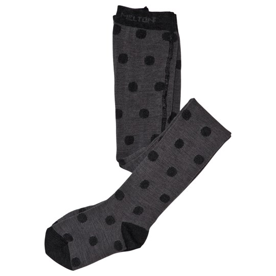 Melton Grey Dotty Tights Dark Grey melange