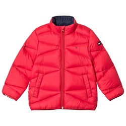 Tommy Hilfiger Red Lightweight Down Padded Coat
