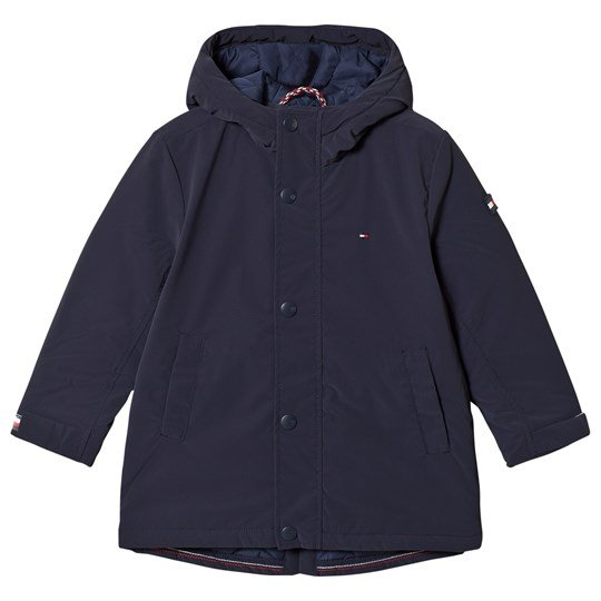 Tommy Hilfiger Navy Padded Hooded Parka 002