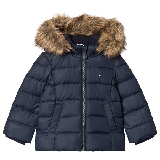 Tommy Hilfiger Navy Down Padded Hooded Coat 002
