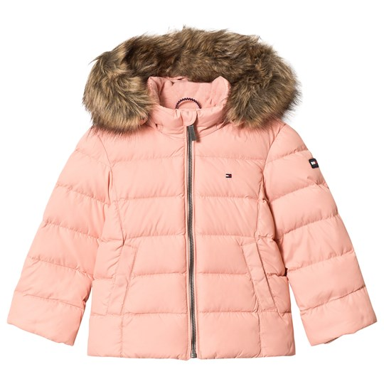 Tommy Hilfiger Pale Pink Down Padded Hooded Coat 643