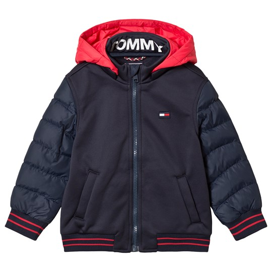 Tommy Hilfiger Navy Bonded Padded Jacket with Detachable Hood 002