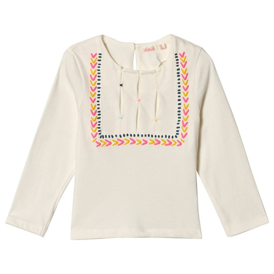 Billieblush White Heart Embroidered Long Sleeve Tee 121