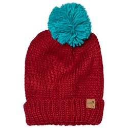 Muddy Puddles Bobble Hat Red