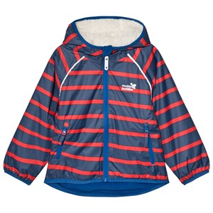 Image of Muddy Puddles EcoSplash Hooded Jacket Navy/Red Stripe 11-12 years (3059476421)