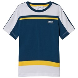 BOSS Blue, White and Yellow Branded Tee