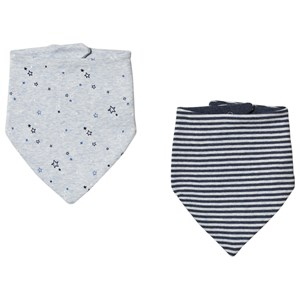 Image of GAP 2-Pack Favorite Bandana Bibs Blue Heather (3059478633)