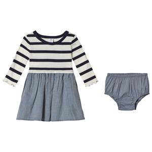 Image of GAP Stripe Mix Dress Navy 4 år (3059478717)