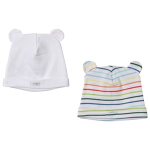 Image of GAP 2-Pack Favorite Stripe Bear Hat Multi Stripe 0-3 mdr (3059478763)