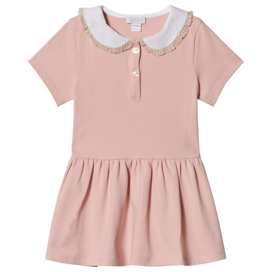 Livly Short Sleeve Marianne Dress Pink Pink