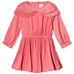 Carrément Beau Rose Satin Pleated Dress