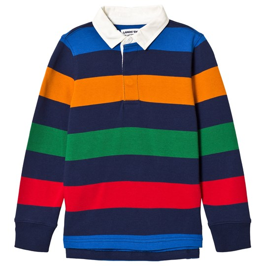 Lands' End Multi Stripe Rugby Tee UA6