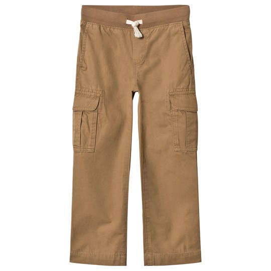 Lands' End Beige Pull Up Cargo Trousers QK6