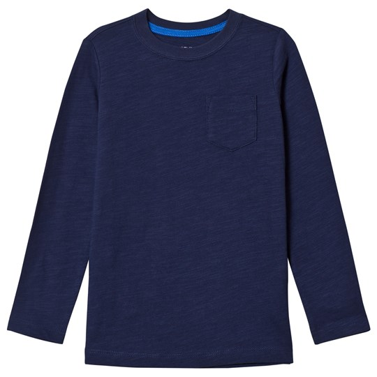 Lands' End Navy Long Sleeve Pocket Tee HME