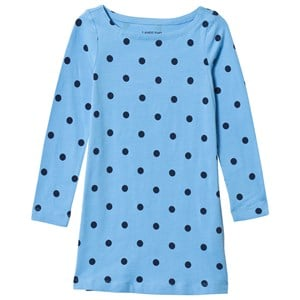 Image of Lands End Blue Spot Jersey Dress 10-12 years (3059677805)