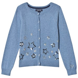 Image of Lands End Blue Sequin Star Cardigan 10-12 years (3059678123)