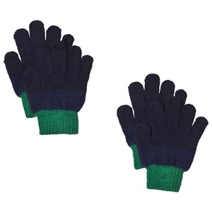 Image of Lindberg 2-Pack Brattfors Gloves Navy/Blue 15 cm (5-9 år) (1187475)
