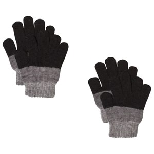 Image of Lindberg 2-Pack Brattfors Gloves Black/Anthracite 15 cm (5-9 år) (1187473)