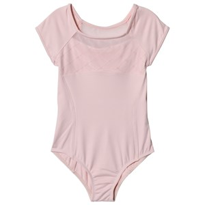 Image of Bloch Brielle Pink Diamond Heart Flocked Mesh Front and Back Cap Sleeve Leotard 2-4 years (3059678173)
