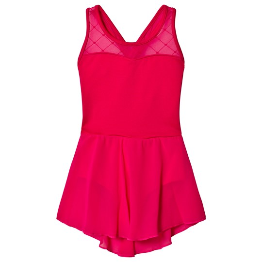 Bloch Berry Adora Diamond Heart Cross Back Leotard Dress Berry