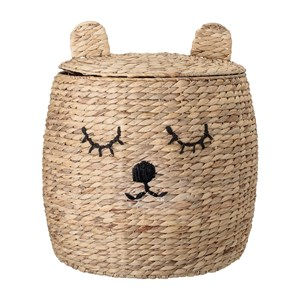 Image of Bloomingville Basket with lid Nature (3059678229)
