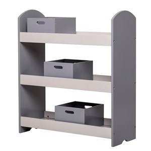 Image of Bloomingville Bookcase w Drawers Grey MDF (3059678231)