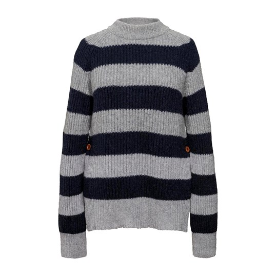 Boob Jaquelin Knit Sweater Grey Melange/Midnight Blue greymelange/m.blue