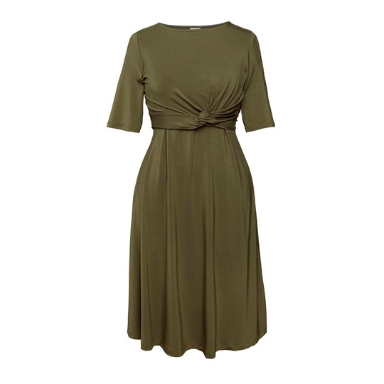 Boob Twist Dress Forest Green Forest Green