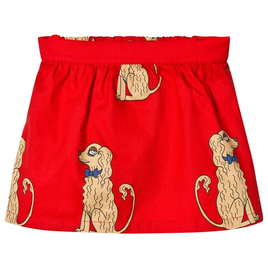 Mini Rodini Spaniels Woven Skirt Red Red