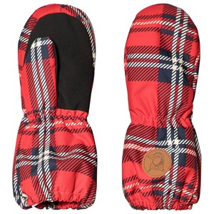 Image of Mini Rodini Alaska Check Mitten Red 9 Months-2 Years (3060376755)