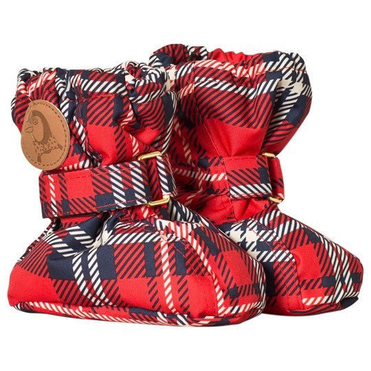 Mini Rodini Alaska Check Baby Boots Red Red