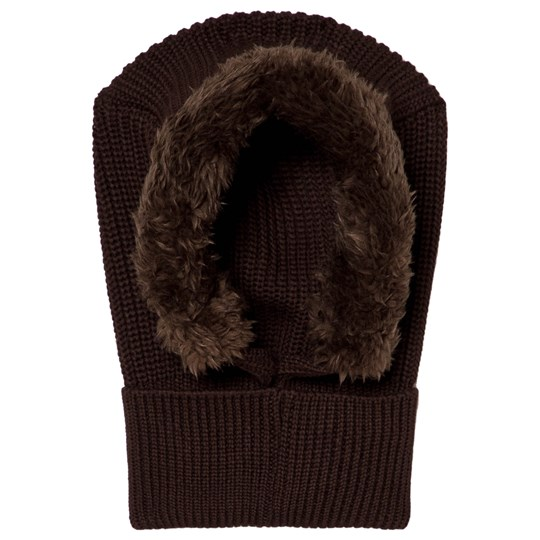 Mini Rodini Pile Balaclava Brown BROWN