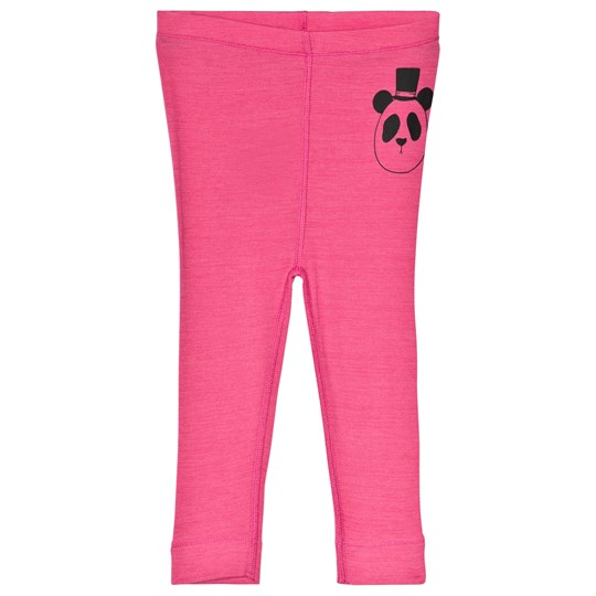 Mini Rodini Panda Wool Leggings Pink Cerise