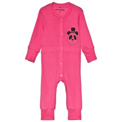 Mini Rodini Panda Sp Wool Onesie Pink