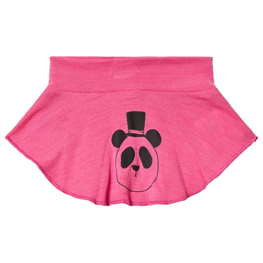 Mini Rodini Panda Wool Turtleneck Pink Cerise
