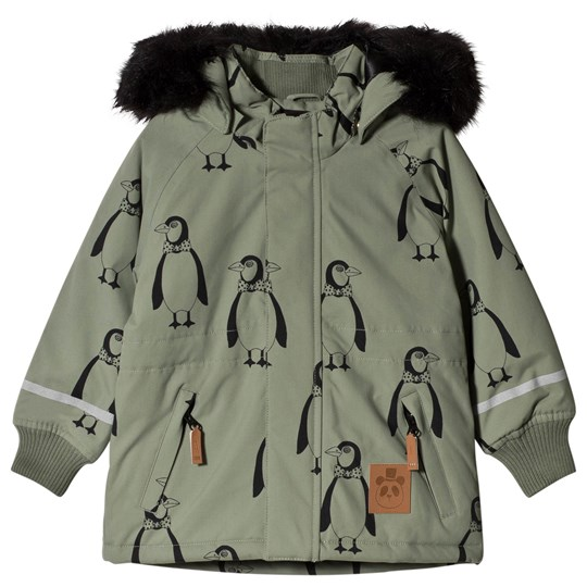 Mini Rodini K2 Penguin Jacket Green Green