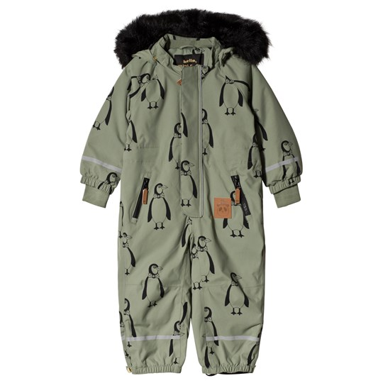 68bbacd35 Mini Rodini - Kebnekaise Penguin Snowsuit Green - Babyshop.com