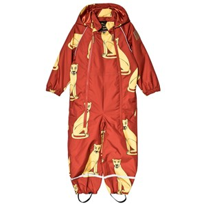 Image of Mini Rodini Alaska Cougars Baby Coverall Red 74cm (6-9 months) (3060376639)