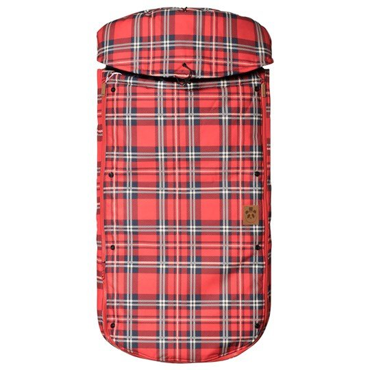 Mini Rodini Alaska Check Footmuff Red Punainen