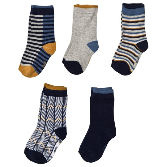 Melton 5-Pack Socks Blue Marine