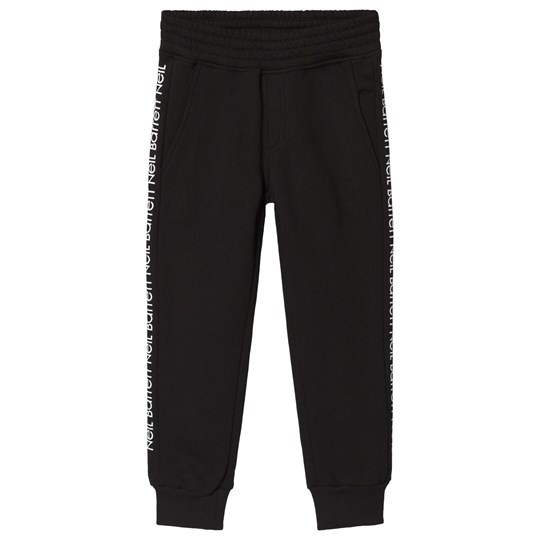 Neil Barrett Black Side Branded Sweatpants 110