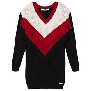 Image of MSGM Black and White Knit Tassle Jumper Dress 12 years (3060377149)