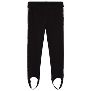 Image of MSGM Black Logo Stirrup Leggings 10 years (3060377077)