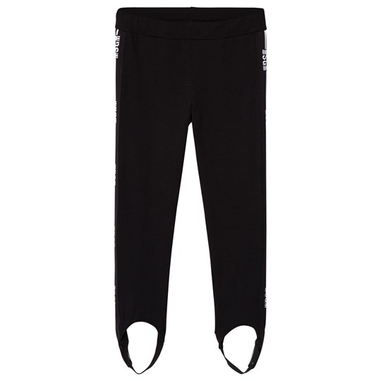 MSGM Black Logo Stirrup Leggings 110