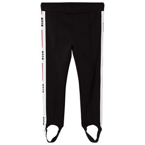 Image of MSGM Black Logo Side Stripe Leggings 14 years (3060377103)
