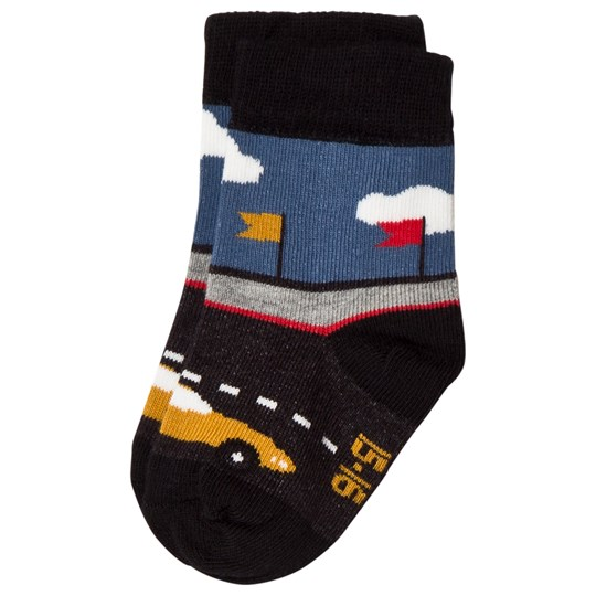 Melton Rally Cars Baby Socks Black Black