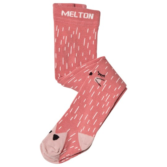 Melton Sleeping Cat Baby Tights Pink Dusty Rose
